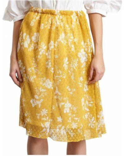 Ciepła żółta spódnica z printem See By Chloe