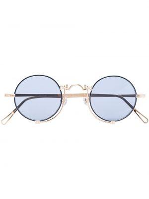 Niebieskie złote okulary Matsuda