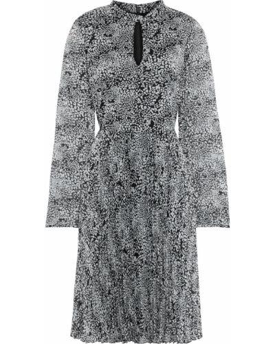 Черное платье с подкладкой с вырезом Mikael Aghal
