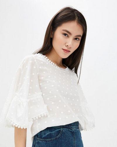 Белая блузка с длинным рукавом See By Chloe