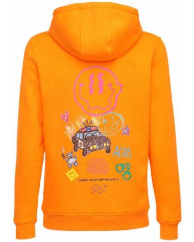 Pomarańczowa bluza kangurka z kapturem Taboo