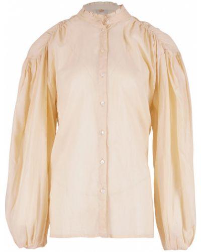 Beżowa bluzka z długimi rękawami Antik Batik