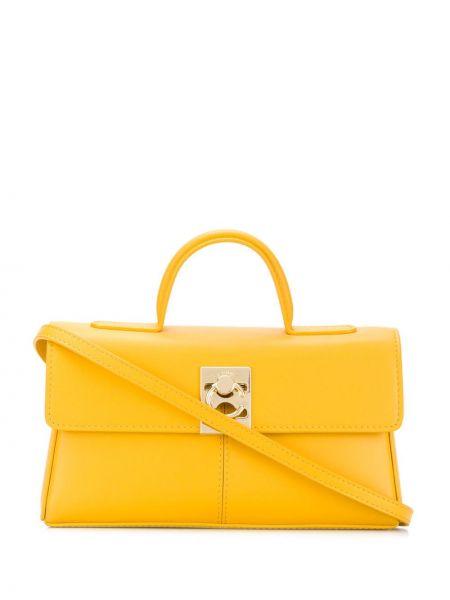 Żółta torba na ramię skórzana Cafuné