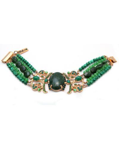 Зеленый браслет малахитовый Amaro