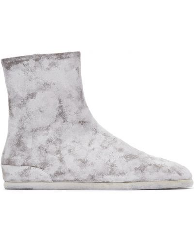 Белые кожаные сапоги с высоким голенищем на каблуке с подкладкой Maison Margiela