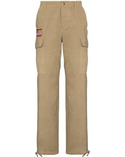 Брючные брюки карго с поясом с манжетами с заплатками Phipps
