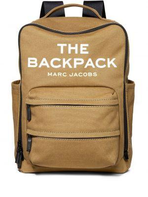 Plecak bawełniany - brązowy Marc Jacobs