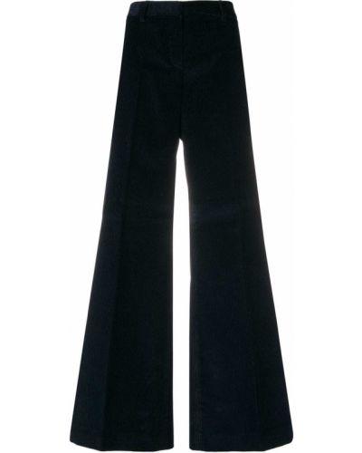 Синие хлопковые брюки Alberto Biani