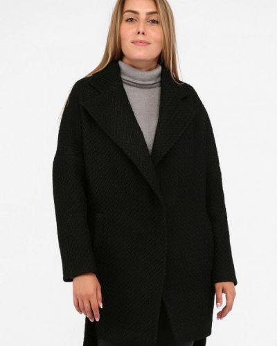 Черное пальто с капюшоном Sfn