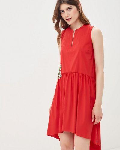 Красное платье прямое Imperial