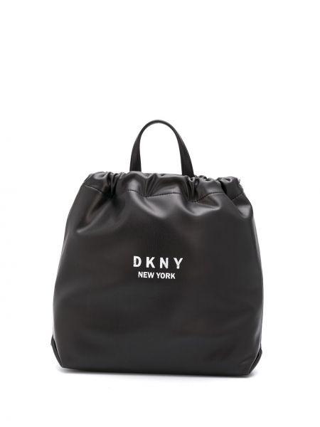 С кулиской белая сумка с карманами Dkny