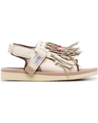 Sandały skórzane - beżowe Suicoke