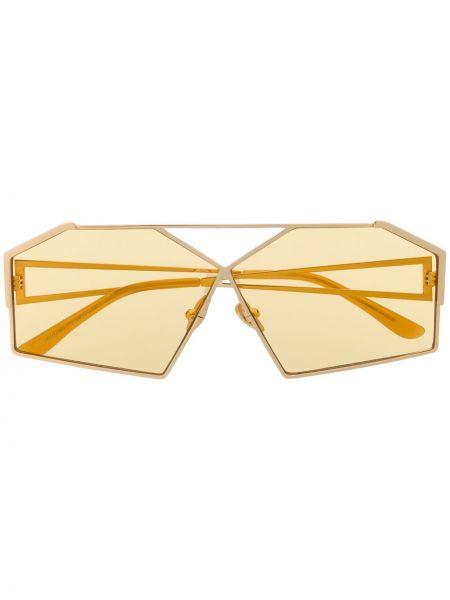Złote żółte okulary Self-portrait