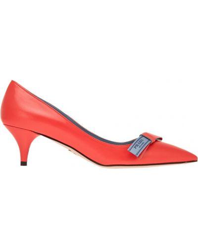 Туфли-лодочки на высоком каблуке на низком каблуке Prada