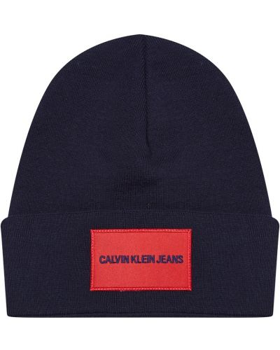 Шапка с отворотом - синяя Calvin Klein