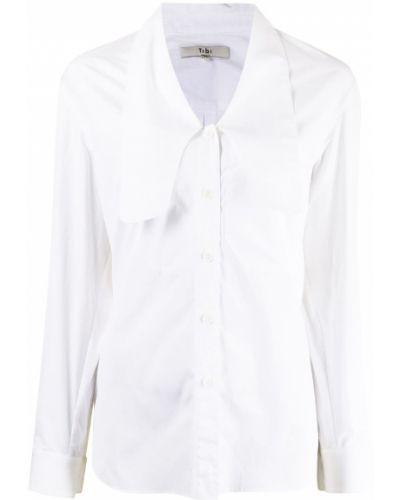 Biała biała koszula zapinane na guziki Tibi