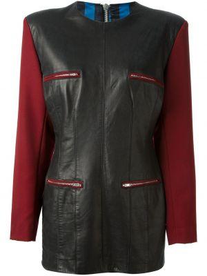 Кожаное платье винтажное с вырезом на молнии Jean Paul Gaultier Pre-owned