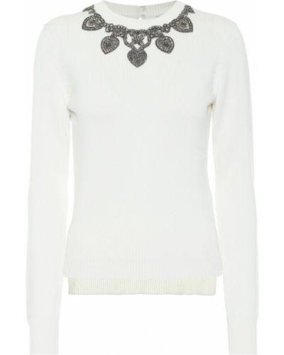 Белый кашемировый свитер Alexander Mcqueen