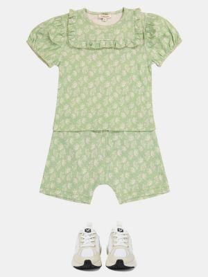 Zielony t-shirt bawełniany z printem Caramel