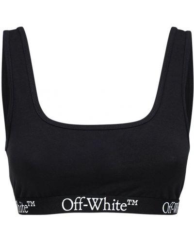Sport czarny sport biustonosz elastyczny Off-white