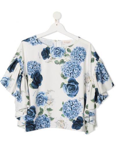 Bluzka asymetryczna - biała Monnalisa