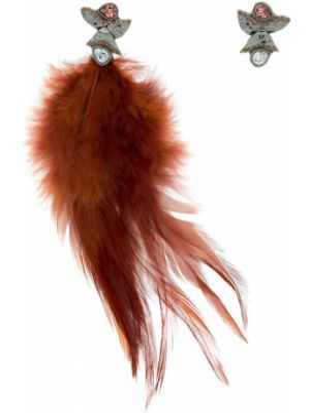 Черные серьги металлические с бабочкой Camila Klein