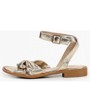 Кожаные сандалии золотые Lolli L Polli