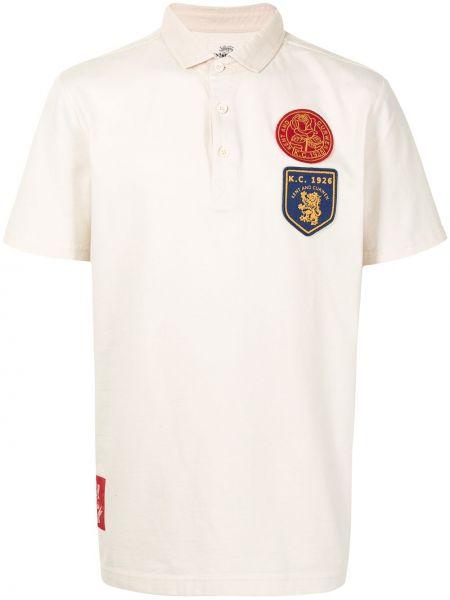 Biała koszula krótki rękaw bawełniana Kent & Curwen