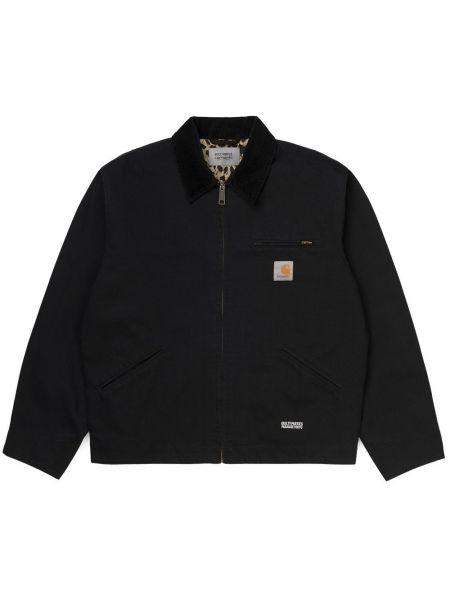 Хлопковая черная куртка на молнии Wacko Maria