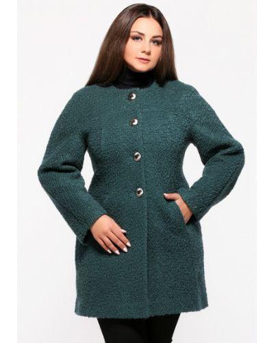 Зеленое пальто осеннее Vlavi