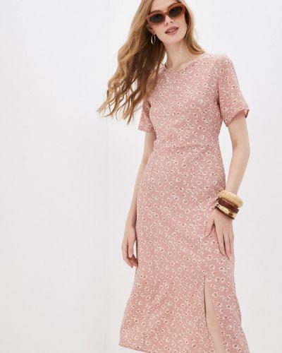 Розовое платье а-силуэта Pinkkarrot
