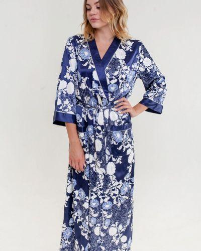 Синий домашний халат Mia-amore