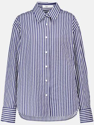 Синяя хлопковая рубашка Frankie Shop