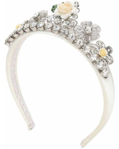 Nylon biały opaska na głowę Dolce And Gabbana