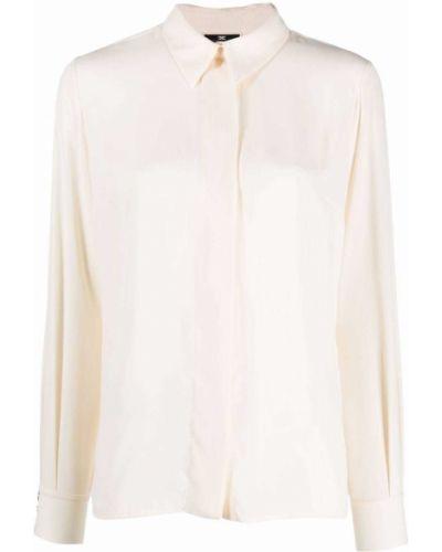 Рубашка с длинным рукавом классическая - белая Elisabetta Franchi