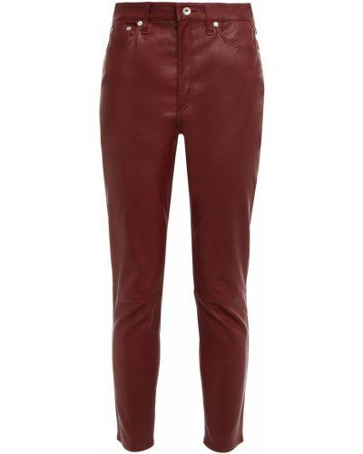 Spodnie skorzane - brązowe Rag & Bone