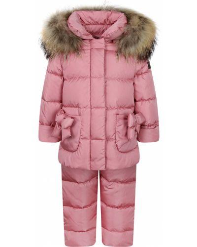 Утепленный розовый комбинезон Il Gufo