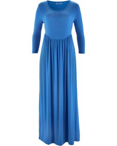 Джинсовое платье макси платье-пиджак Bonprix
