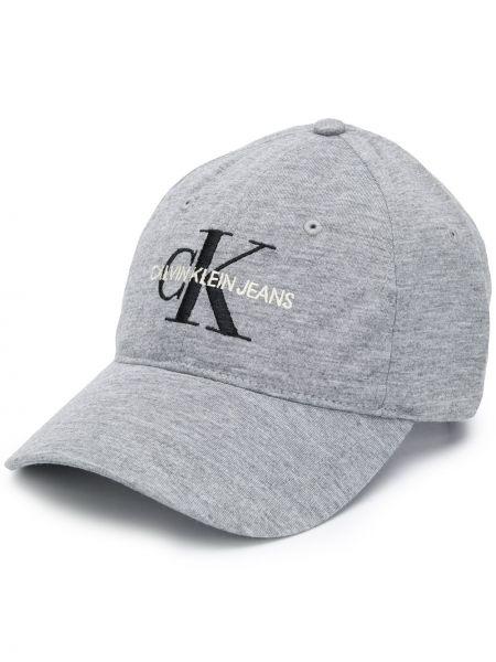 Хлопковая кепка - серая Calvin Klein