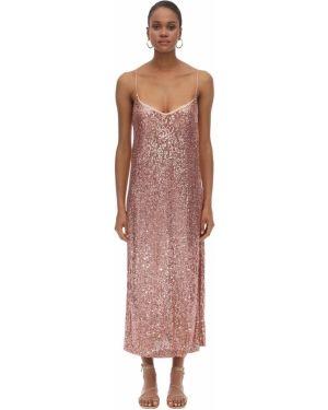 Платье с пайетками на бретелях Lautre Chose