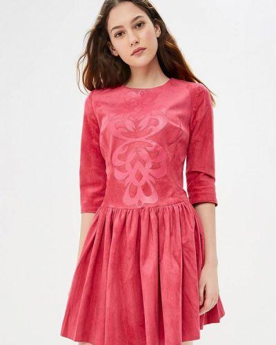 Платье розовое осеннее Gorchica