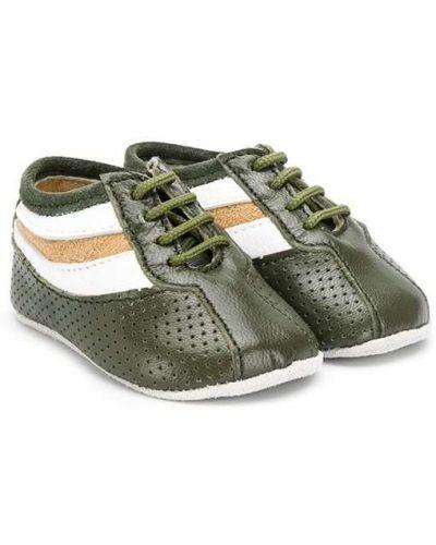 Зеленые кроссовки на шнуровке на плоской подошве Sonatina Kids