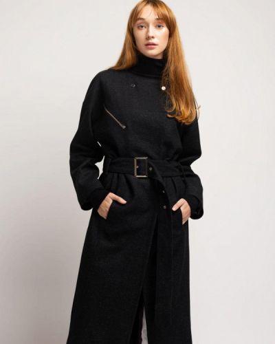 Черное пальто с капюшоном Urban Streets