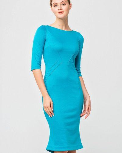Платье осеннее бирюзовый Nai Lu-na By Anastasia Ivanova