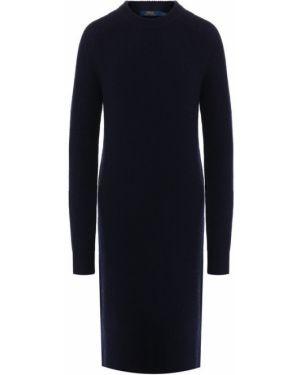 Платье шерстяное синее Polo Ralph Lauren