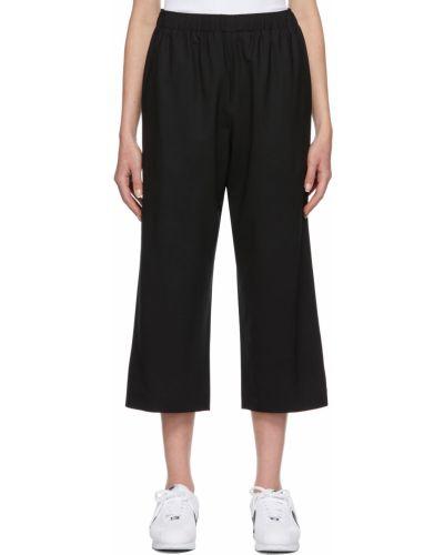 Черные широкие брюки 6397