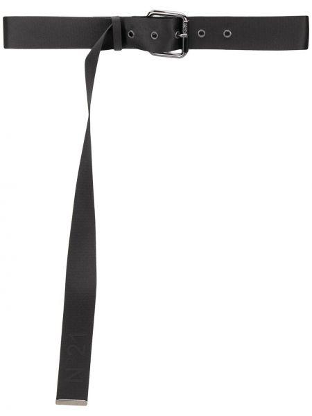 Черный ремень с пряжкой с поясом для полных N21