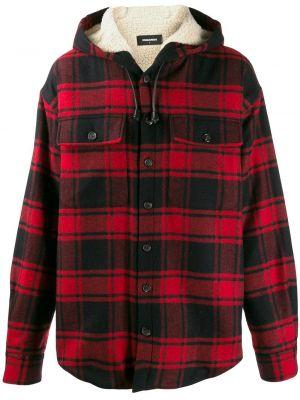 Рубашка с длинным рукавом в клетку с карманами Dsquared2