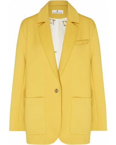 Повседневный прямой пиджак из вискозы с карманами Laroom