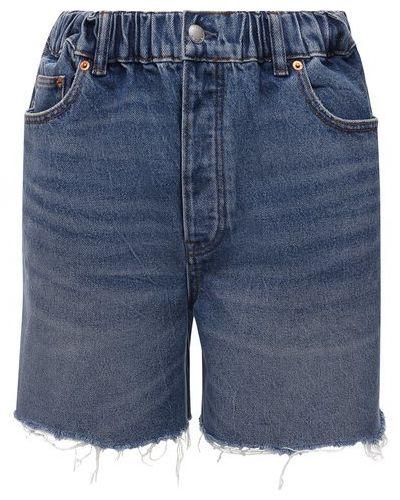 Джинсовые шорты - голубые Denim X Alexander Wang